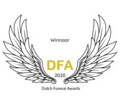 Winnaar Dutch Funeral Awards transparant